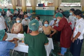 People receive second dose of COVID-19 vaccine