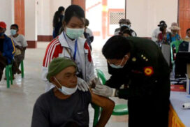 COVID-19 vaccination carried out in Shan and Kayin states, Mandalay region