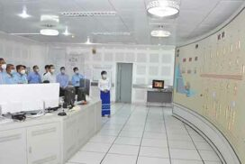 MoEE Union Minister inspects Yeywa hydropower plant, Shwesaryan and Aungpinle main power stations