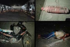 Armed insurgents destroy Hopin bridge, Mohnyin township, Kachin State