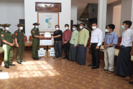 COVID-19 protective gears provided to Kokang Self-Administered Zone Administration Body