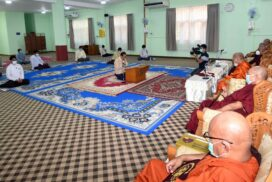 MoRAC Union Minister pays homage to Sayadaws of State Sangha Maha Nayaka Committee