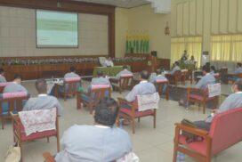 Union Minister U Khin Maung Yi makes inspection tour in Yangon