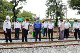 Yangon-Toungoo railway upgrade project, railway stations, dry dock inspected