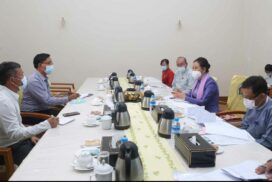 MoSWRR Union Minister meets Wa, Palaung self-administered zone administration bodies' chairpersons