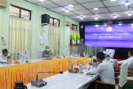 Union Minister U Aung Naing Oo meets Magway Region Investment Committee members