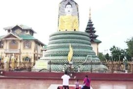 Pagodas, mosques and temples peacefully alive with prayers