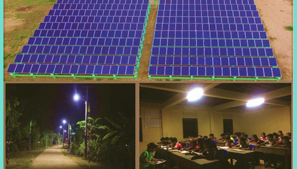 Solar system benefiting rural people residing in off-grid areas