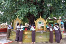 Devotees celebrate the Kason water-pouring festivals country-wide yesterday