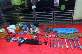 People arrested with explosives