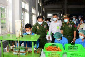 SAC Chairman visits Padonmar Soap Factory in Paung