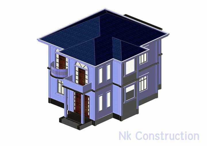 Two Storey with 3 Bed Rooms RC Building